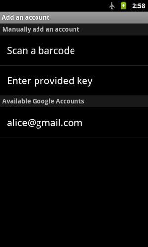 Google Authenticator 2.49 Screen 5