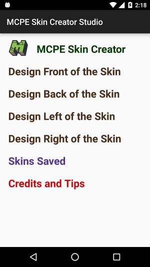MCPE Skin Creator Studio 1.1 Screen 1