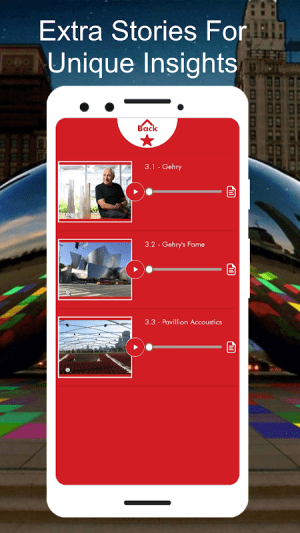 Bean & Millennium Park Audio Walking Tour Guide 1.22c Screen 2