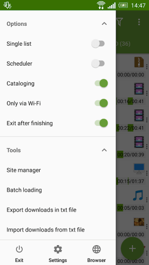 Android Advanced Download Manager Screen 6