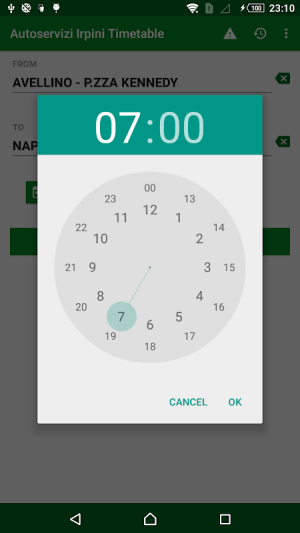 Android Autoservizi Irpini Timetable Screen 4