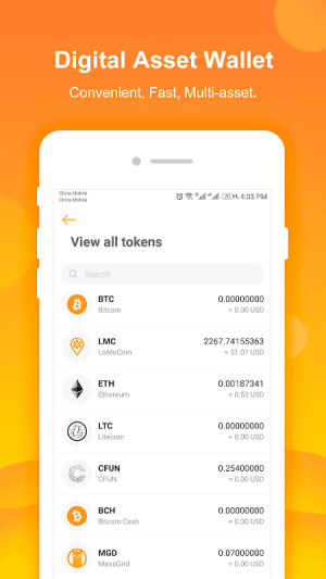 Android LoMoStar Screen 2