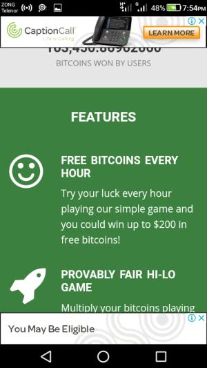 Android Freebitcoin Screen 3
