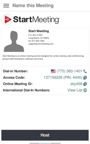 Start Meeting 3.1.4.0 Screen 8