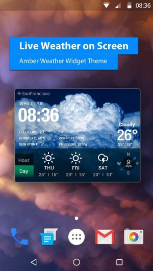 Android Local Weather Report Widget Screen 7