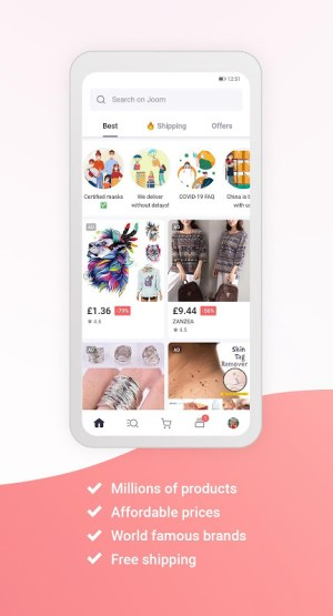 Joom. Shopping for every day. 3.33.0 Screen 1