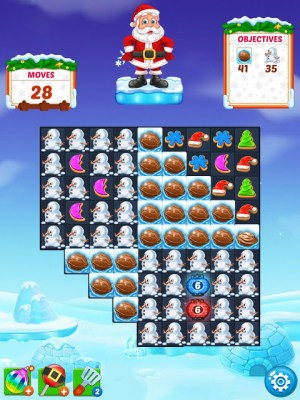 Christmas Cookie - Santa Claus's Match 3 Adventure 3.1.0 Screen 3