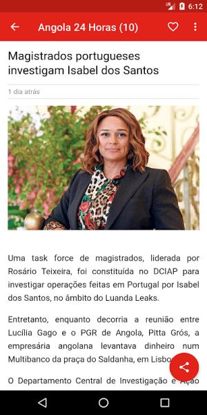 Angola notícias 1.0.5.4 Screen 3