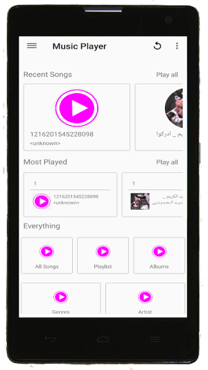 Android Music Player Screen 4