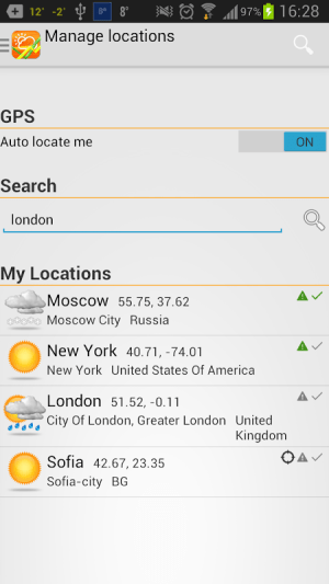 Android Weather Forecast Screen 5
