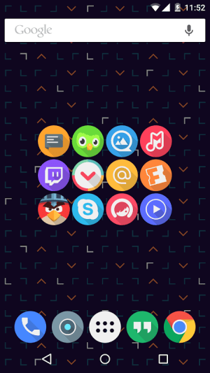 Android Click UI - Icon Pack Screen 3