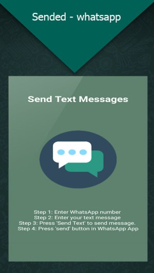 Android Sended - Whatsapp Send MSG Screen 1