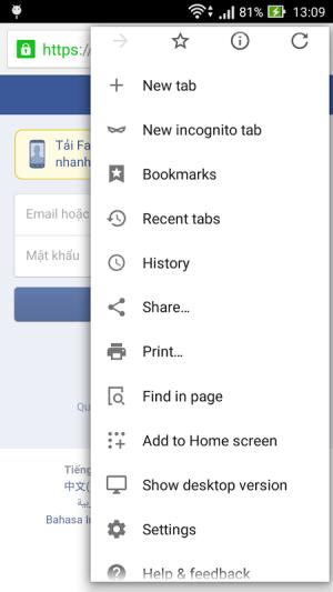 Cốc Cốc Browser 55.4.2883.110 Screen 2
