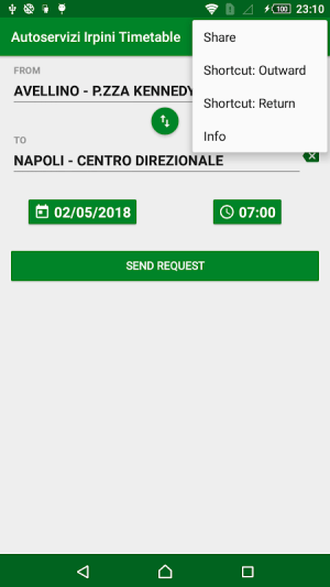 Android Autoservizi Irpini Timetable Screen 5