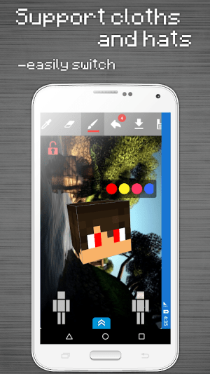 Skins Editor for Minecraft PE (3D) 2.9.1 Screen 6