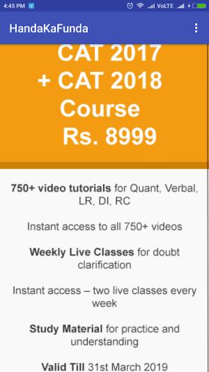 CAT MBA Exam Prep by Handa Ka Funda 1.4 Screen 5