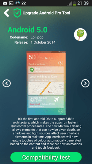 Upgrade for Android Pro Tool 1.2.0 Screen 2