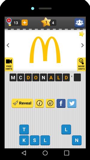 Android Logo Game: Guess Brand Quiz Screen 4