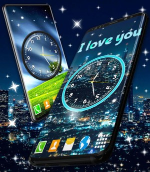 Android Night Sky Clock HD Pro 🌜 4K Live Wallpaper Themes Screen 7