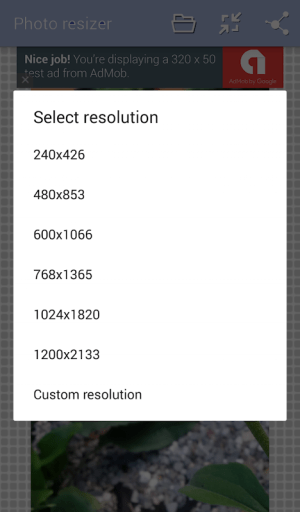 Photo Resize and Compress 1.2 Screen 2