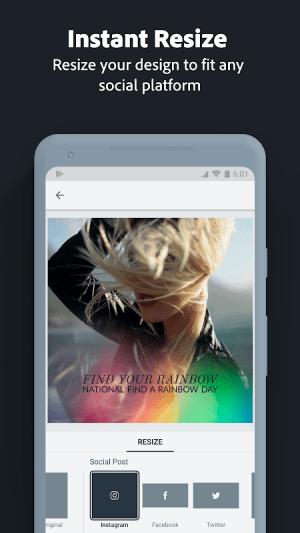 Adobe Spark Post: Poster & Graphic Design Editor 0.6.2 Screen 2