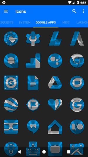 Light Blue Icon Pack Free 3.9 Screen 1
