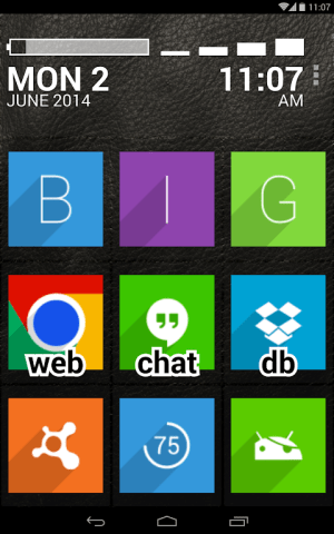Android BIG Launcher Screen 5