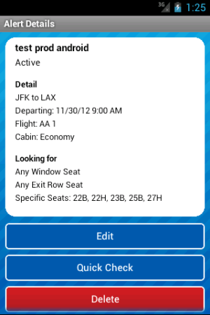 Seat Alerts by ExpertFlyer 1.93.0.0 Screen 4