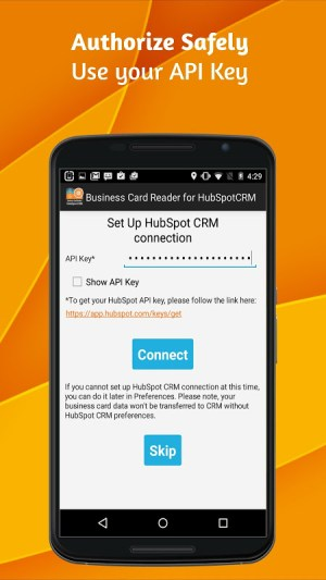 Android Business Card Reader for HubSpot CRM Screen 1