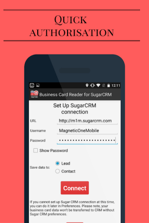 Business Card Reader for Sugar CRM 1.1.152c Screen 18