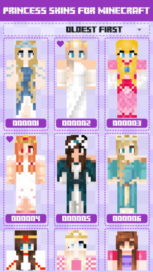Princess Skins for Minecraft PE 1.0.0.115 Screen 1