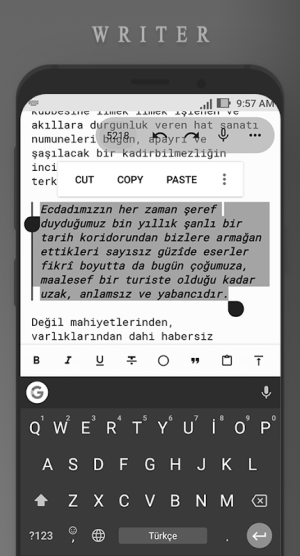 Android Writer Screen 2