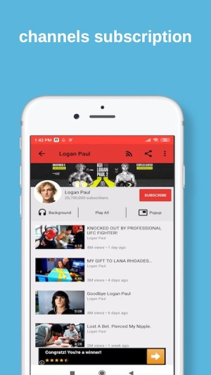 Android SnapTube YouTube Video Downloader Screen 1