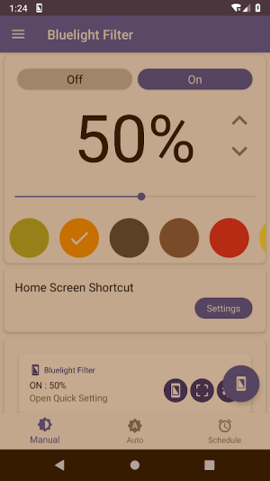 Bluelight Filter for Eye Care - Auto screen filter 3.3.2 Screen 5