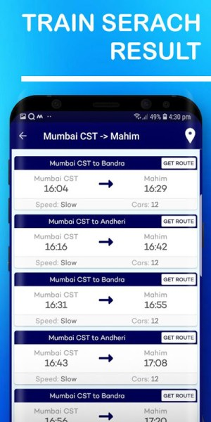 Mumbai Local Train Route Map & Timetable 1.37 Screen 7
