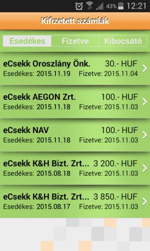 iCsekk mobil fizetés 19.2.12 Screen 4