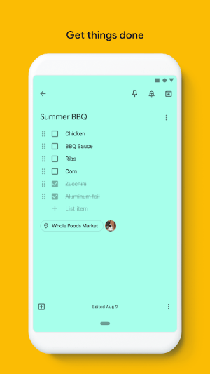 Google Keep - notes and lists 5.20.181.03.40 Screen 6