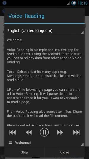 Voice Reading (Read aloud) 1.0.3 Screen 1