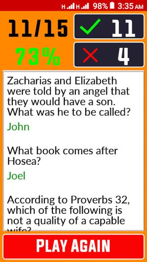 Bible Quiz & Answers 1.0.5 Screen 1