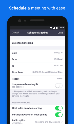 Android ZOOM Cloud Meetings Screen 6