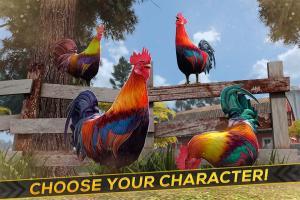 Wild Rooster Run - Frenzy Chicken Farm Race 2.11.9 Screen 2