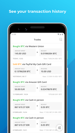 Paxful Bitcoin Wallet 1.6.1.464 Screen 2