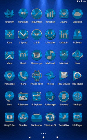 Light Blue Icon Pack Free 3.9 Screen 14
