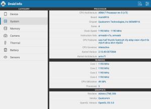 Droid Hardware Info 1.2.2 Screen 1