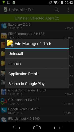 Uninstaller Pro 1.5.6 Screen 4