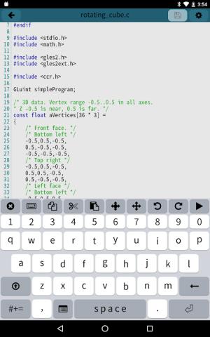Mobile C [ C/C++ Compiler ] 2.5.1 Screen 6