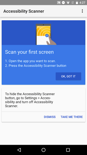 Accessibility Scanner 1.3.0.213565422 Screen 2