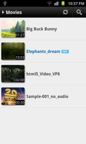 MX Player 1.7.26 Screen 1