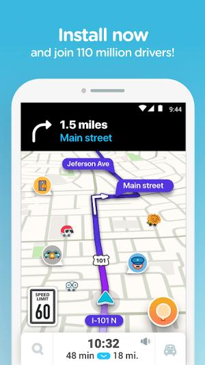 Waze - GPS, Maps, Traffic Alerts & Sat Nav 4.60.0.5 Screen 5