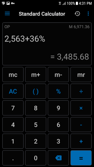 NT Calculator - Extensive Calculator Pro 3.8 Screen 5